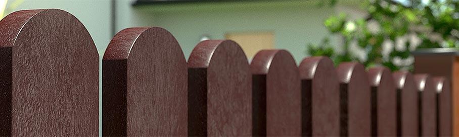 Poteaux de barrière à l'extrémité demi-ronde