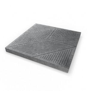 DALLES DE TERRASSE AVEC MOTIF - KLÁRA, 500 × 500 × 40 mm, GRISES