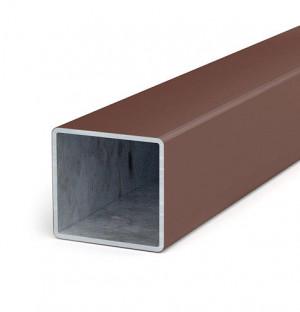 Poteau 60x60x1,5 longueur minimale 6 m, acier zingué + matière plastique, H