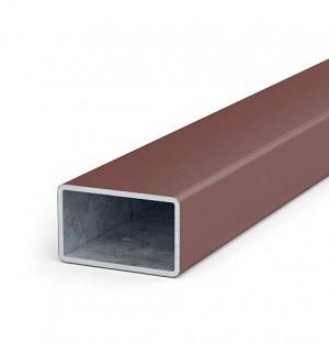 Poutres en acier zingué-plastique, 50x30x1,8, longueur inférieure à 2 m, H