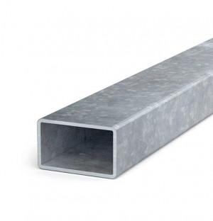 Poutres en acier zingué, 50x30x1,5, longueur inférieure à 6 m
