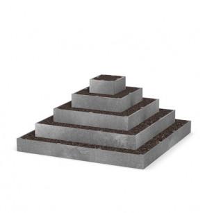Pyramida na jahody 2x2x1m pětipatrová