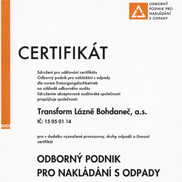 WASTE MANAGEMENT CERTIFICATE