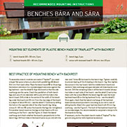 MOUNTING INSTRUCTIONS FOR BÁRA AND SÁRA BENCHES