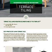 MOUNTING INSTRUCTIONS FOR TERRACE TILING
