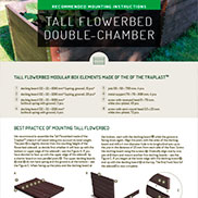 MOUNTING INSTRUCTIONS FOR TALL FLOWERBED DOUBLE-CHAMBER